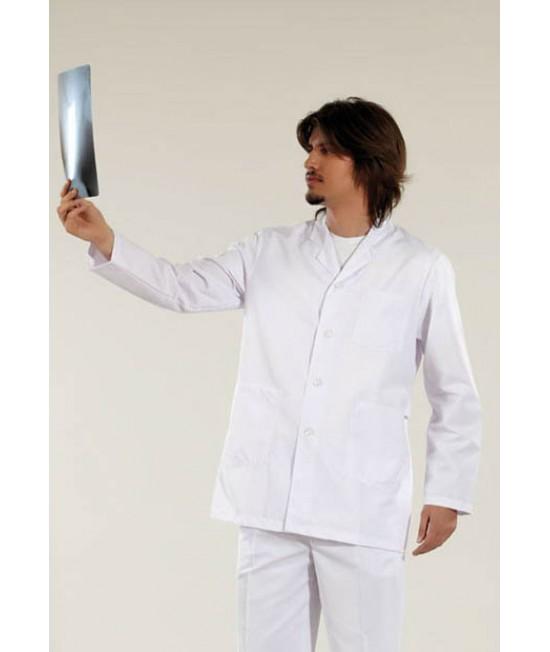 Къса мъжка медицинска манта с дълъг ръкав